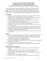Objective In Internship Resume Internship Resume Objectivemple Accounting Examples Legal Summer 54