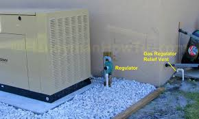 whole house standby generator whole house generator gas regulator relief vent line
