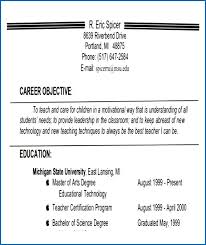 Teacher Resume Objective Examples Delectable Sample Objectives For Teachers Objective For A Teacher Resume Career