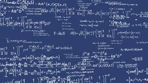 mathematical calculation and equations blueprint fly through background hd stock footage clip