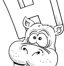 Hippopotamus Coloring Pages Sweet Image Cartoon Page For Kids Hippo
