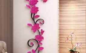 hot 3d mirror wall stickers e flower vase acrylic decal home diy gardening flower and vegetables