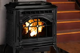Pellet Stove Insert  White Brick Surround  Farmhouse Design Pellet Stove Fireplace Insert