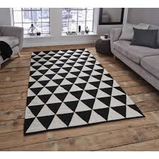 architecture super cool black white rug lappljung ruta low pile 6 7 x9 10 ikea