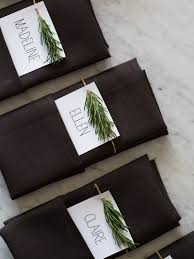 Holiday Placecards For Your Holiday Table This Year Rosemary Sprig Place Cards Kitchn