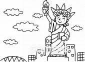 自由の女神イラストなら小学校幼稚園向け保育園向けのかわいい無料