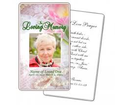 Memorial Card Template Funeral Prayer Cards Templates Free