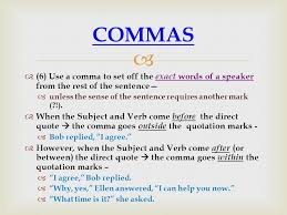 when is a comma used comma rules punctuation ppt download