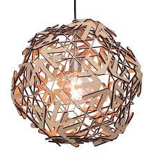 Hanglamp Snowflake Unieke Houten Design Wonderewoonwereldnl