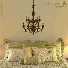 this stylish chandelier decal measures 23 wide by 36 height you will receive an extra chain part if you want it longer