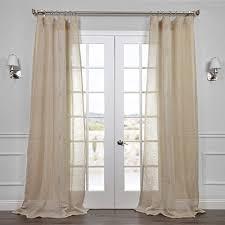 linen curtain panels. HPD HALF PRICE DRAPES Half Price Drapes SHLNCH-J0106-84 Linen Sheer Curtain, Open Weave Natural Curtain Panels