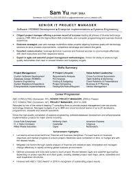 Amazing Infrastructure Project Manager Resume Tomyumtumweb Com