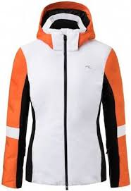 Kjus Formula Womens Ski Jacket White Kjus Orange 38
