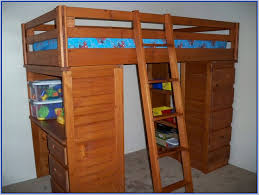 wood bunk bed with desk.  With Elegant Bunk Bed With Desk Underneath Beds Regarding Wood Plan 18 In H