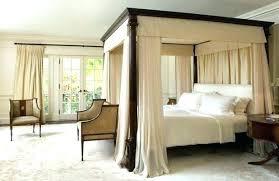 Full Size Canopy Bed Full Size Canopy Bed Frame Black Metal Sunburst ...