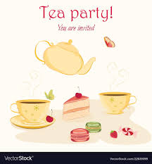 Tea Party Invitations Free Template Elegant Tea Party Invitation Template With Teacups