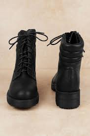 mia shoes mia morrigan black faux leather combat boots