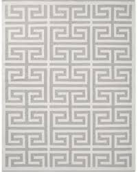 Perennials Greek Key IndoorOutdoor Rug 8x10u0027 Gray