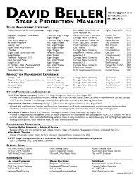 Stage manager resume to get ideas how to make captivating resume 5