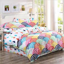 king size cotton comforter sets 2016 organic bedding rainbow printed duvet 7