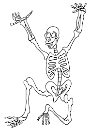 Small Picture Skeleton Coloring Page Free Printable Skeleton Coloring Pages For