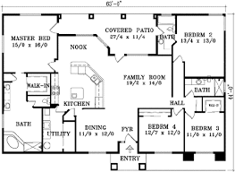 house plans without garages adobe southwestern style plan 4 beds 3 00 baths 2129 sq ft 1 1442