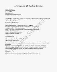 Cover Letter Qa Sample Resume Qa Sample Resume With Selenium