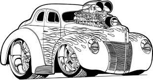 Small Picture Hot Wheels Super Car with NOS Coloring Page NetArt