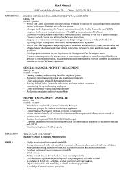 Property Management Resume Property Management Resume Samples Velvet Jobs 15
