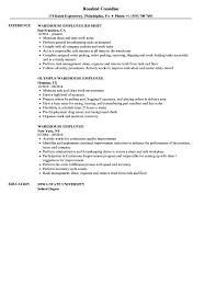 Warehouse Job Titles Resume Warehouse Employee Resume Samples Velvet Jobs 7