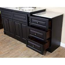 Bellaterra Home 605522b 74 In Double Sink Vanity Dark Mahogany