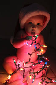 Baby Pics With Christmas Lights Christmas Baby Photo Baby Photography Christmas Lights