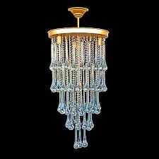 vintage cascading murano large tear drop hand blown crystal beaded chandelier