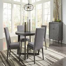 besteneer dark gray 6 pc round dining table 4 upholstered side ideas with round breakfast table