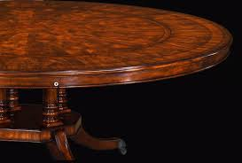 high quality perimeter table with flame mahogany and satinwood banded top