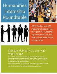 microsoft word humanities internship roundtable docx