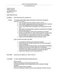 Senior Accountant Sample Resume
