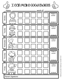 Weekly Sticker Chart For Behavior Positive Behavior Support Weekly Sticker Chart For Good Choices