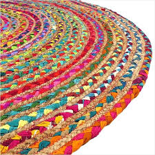 charming woven round rugs round colorful tan natural jute sisal woven area braided rug 4 ft