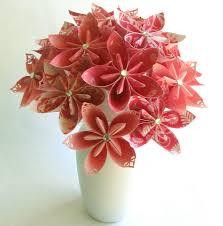 Paper Flower Bouquet In Vase Coral Breezes Bouquet In Vase Paper Flower Bouquet Paper