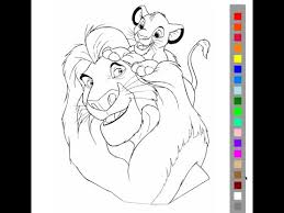The Lion King Coloring Pages For Kids The Lion King Coloring Pages
