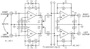 electronic circuits diagrams schematics pcb designs this is a mixer circuit which can mix stereo sources the component values for the input circuit varies according to the type of instrument connected to it