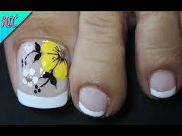 A list of 40 titles created 2 months ago. Diseno De Unas Para Pies Flores Y Frances Para Principiantes Flowers Nail Art French Nail Art Youtube