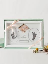 1 pc infant footprint photo frame rectangle shaped fresh memorial photo frame photo als frames at jolly chic