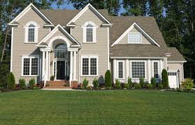 Exterior  Traditional Look Of Grey Exterior House Paint Combine - House exterior colours