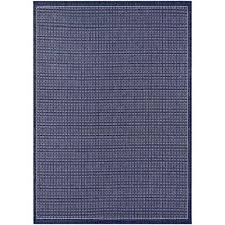 couristan recife saddle stitch ivory indigo 4 ft x 5 ft indoor outdoor area rug