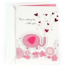 Hallmark Congratulations Greeting Card For New Baby Girl Pink