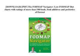 Fodmap Diet Chart Download Pdf The Fodmap Navigator Low Fodmap Diet Charts