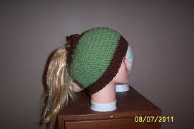 Free Crochet Hat Pattern With Ponytail Hole Best Ponytail Hat Pattern