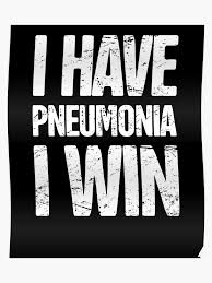 Get Well Soon Poster Sick With Pneumonia Get Well Soon Gift Poster